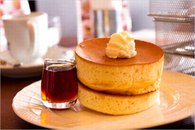 星乃珈琲のスフレパンケーキ